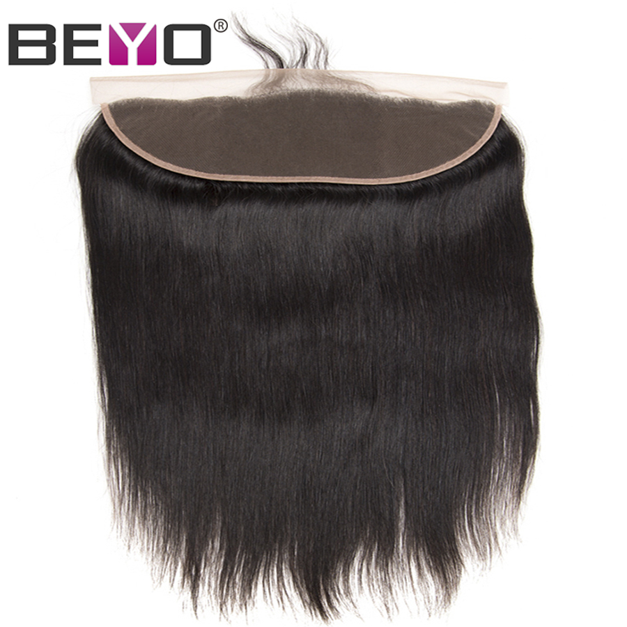 Beyo Pre Plucked Lace Frontal With Baby Hair Free Middle Three Part Malaysian Straight Ear To
