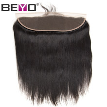 Beyo Pre Plucked Lace Frontal With Baby Hair Free/Middle/Three Part Malaysian Straight Ear To Ear Frontal Closure Non-Remy Hair(China)