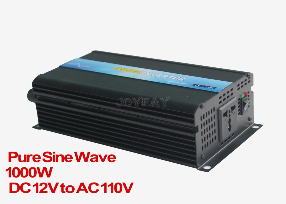 цена на High Quality 1000W Pure Sine Wave DC 12V to AC 110V Power Inverter