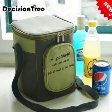 New Brand Portable Insulated Cooler Oxford Cloth lunch Bag Thermal Food Picnic Lunch Bags Ladies Carry Tote