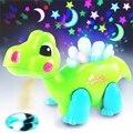 Новый Мультфильм Дракон Музыкальный Светит Танцы Обучающие Свет-Up Игрушки Проектор Дети Детские Игрушки Подарок Для Детей