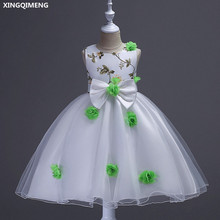 fbe3c242e6f0 Buy white and green flower girl dresses and get free shipping on ...