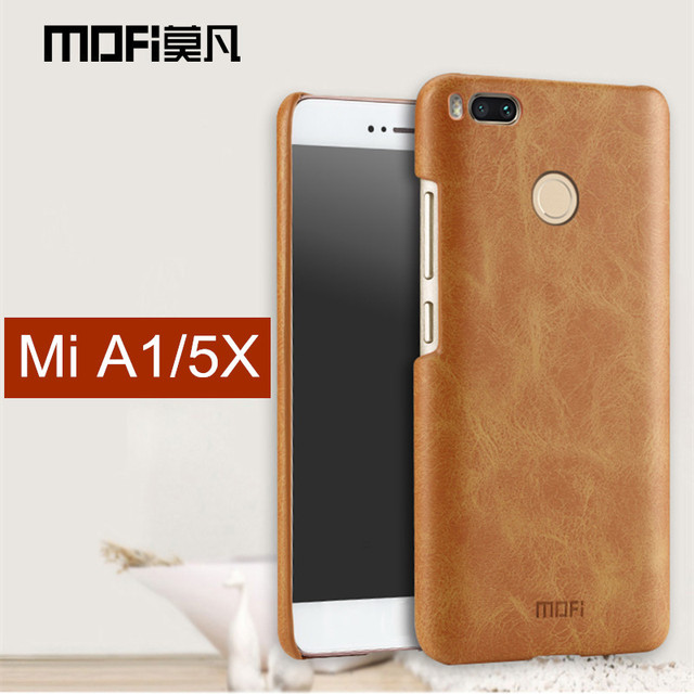 release date 83718 3e792 US $8.69 13% OFF|Xiaomi Mi A1 case cover miA1 back cover pu leather  business men hard protect cover coque MOFi original xiaomi mi a1 case -in  Fitted ...