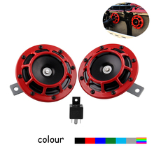 2pcs 12v 110DB Compact Electric Air Blast Tone Horn for Motorcycle and Car And