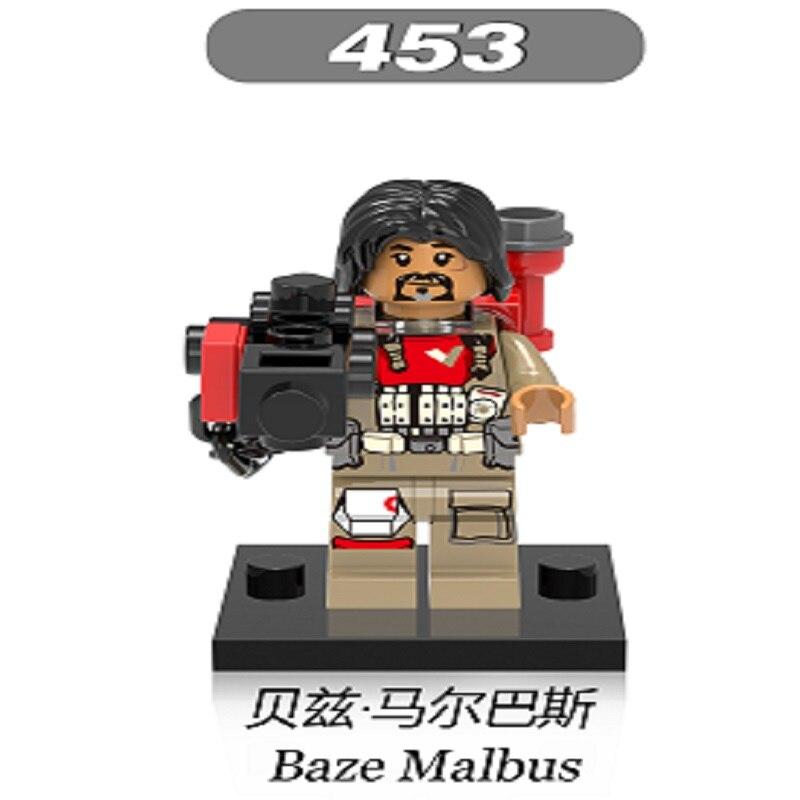 Building Blocks Star Wars Baze Malbus Figures Imperial Hovertank Pilot Bricks Action assemble Toys For Children Gift XH 453