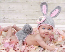 цена на Cute Bunny Child modeling cap hat baby one hundred days photos