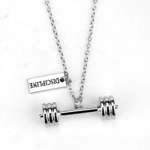 Dumbbell Barbell Kettlebell Necklace Discipline Silver Plated Necklaces Bodybuilding Jewelry Fitness Necklace Collier 2016