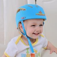 O envio gratuito de Criança Do Bebê Capacete De Segurança Headguard Cap Chapéu Ajustável Sem Solavancos Crianças Caminhada Aprendizagem Capacetes 3 cores