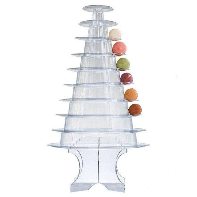 Support présentoir macarons à 6 étages | Fournitures de décoration de gâteaux, pour réception-cadeaux pour bébé, fête danniversaire, mariage