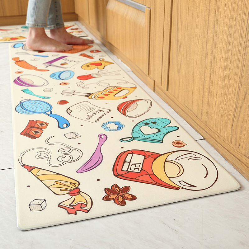 Pu Peather Long Kitchen Floor Mat Bath