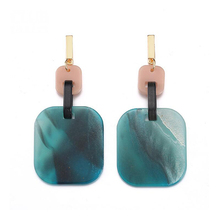Geometric Long Tassel Acrylic Drop Earrings New Design Bowknot Round Pendant for Women Girls