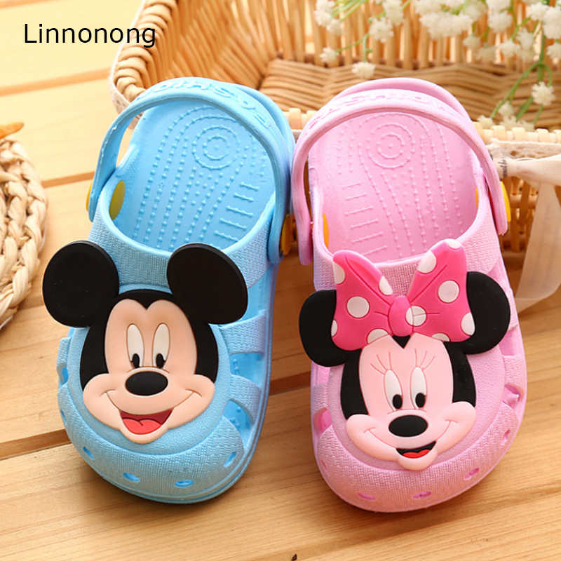 Linnonong 2019 Children Slippers Cute Cartoon Girls Boys Slippers for Kids Baby Toddler Casual Shoes Soft Summer Home Slippers