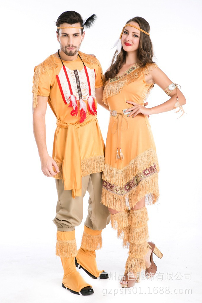 hot sale new cosplay indian halloween costumes for men supplies indian dress for womencouples costume - Mens Couple Halloween Costumes