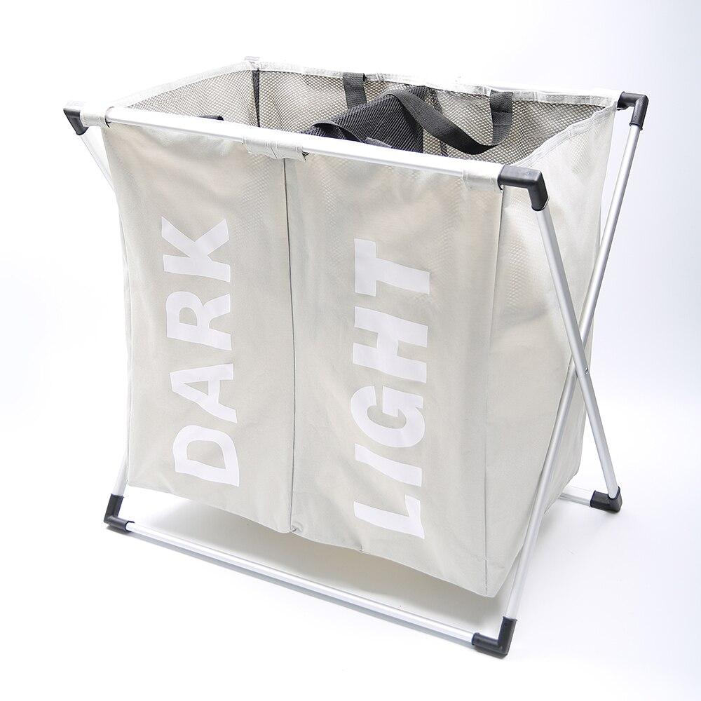 SHUSHI водостойкая грязная одежда корзина складная креативная корзина для белья два сетчатая Одежда Органайзер для ванной комнаты корзины дл...