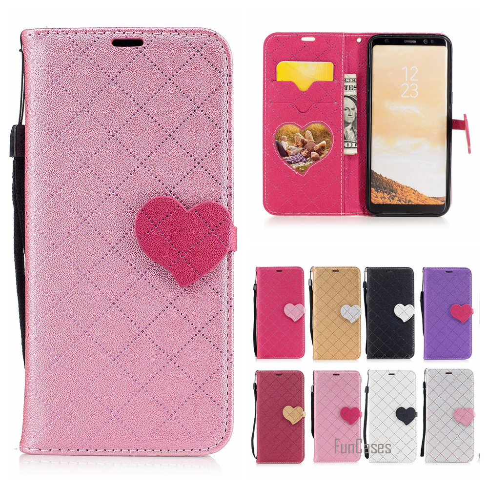 Lovely Twill PU Leather Case For Samsung Galaxy S8 Flip Faux Cuir Cubierta For Samsung S8 G950 Coque Przypadek Klapki Celular