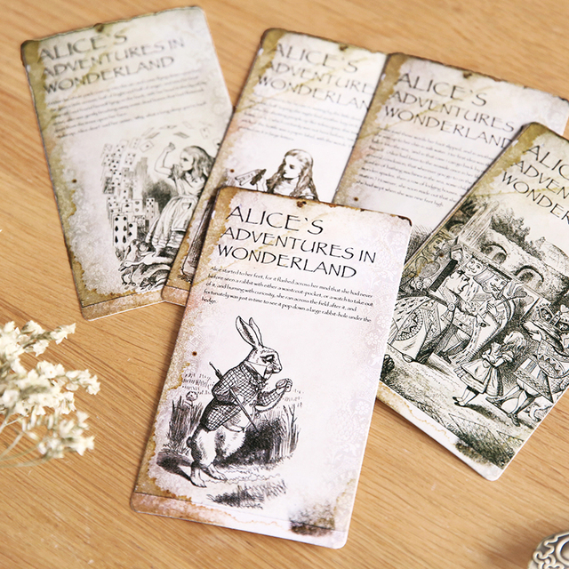 Cool Bookmarks Part - 44: Vintage Alice Theme Cool Fashion Bookmarks 14*8cm DIY Gift Card Post Card  Message Card