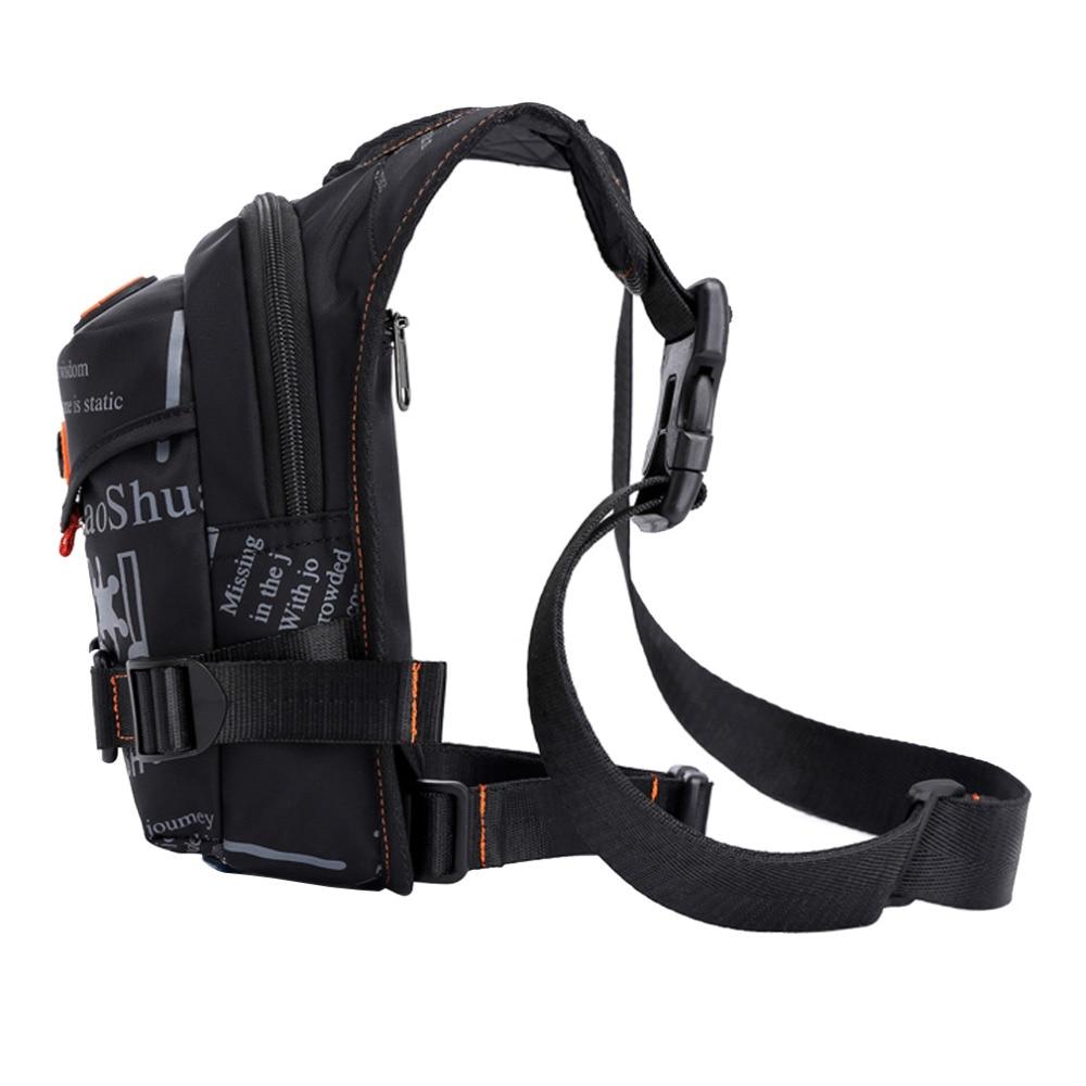 Mænd vandtæt nylon drop ben taske lår hip bum bælte fanny pack - Bæltetasker - Foto 4