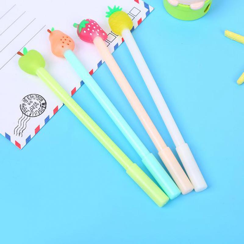 Image 4 - Jonvon Satone 40 Pcs Wholesale Children's Writing Pens Fruit Pen Cute Kids Water based Pen Kawaii Stationery For School Supplies-in Gel Pens from Office & School Supplies