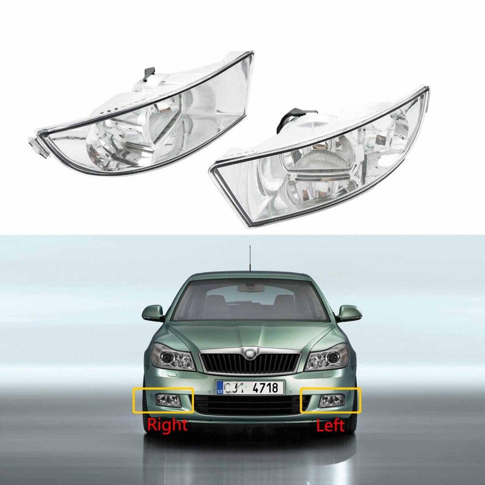 New Car Light For Skoda Octavia A6 MK2 FL 2009 2010 2011 2012 2013 Car styling Front Halogen Fog Light Fog Lamp With 2 Holes