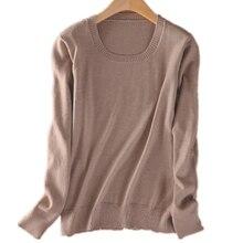 2016 кашемировый свитер женщины свитера и пуловеры женщины мода о шеи сплошной цвет с длинным рукавом S-XXXL вязаный свитер