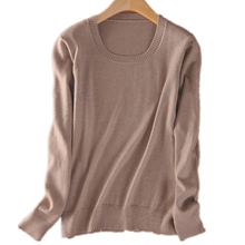 2016 Cashmere Sweater Women Sweaters and Pullovers Women Fashion o Neck Solid Color Long sleeve S-XXXL Knitted Sweater