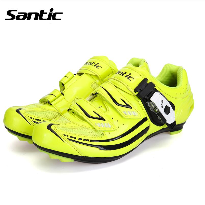 2018 Santic Road Cycling Shoes Women Bicycle Shoes Cycling Lock Cleated Shoes Bike Cycling Shoes Ciclismo zapatos S12016V west biking bike chain wheel 39 53t bicycle crank 170 175mm fit speed 9 mtb road bike cycling bicycle crank