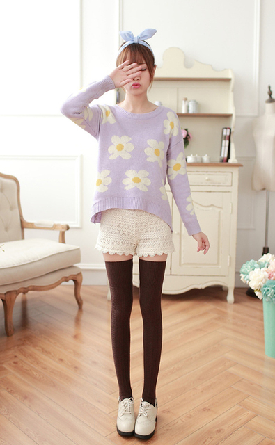 1Pair Fashion Sexy Warm Long Cotton Blend Stocking Over Knee Stocking And Women Ladies Winter Knee High Thigh Knitted Stockings