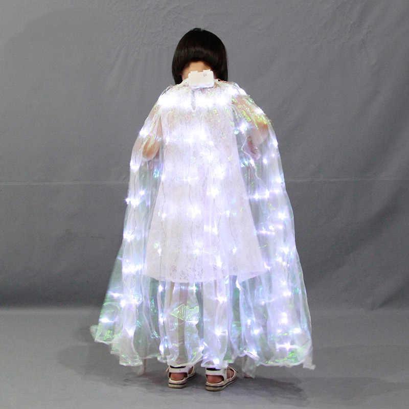 Хэллоуин СВЕТОДИОДНЫЙ крылья Батарея питание Glow Light Up танцевальные костюмы этап Производительность Костюмы TB распродажа