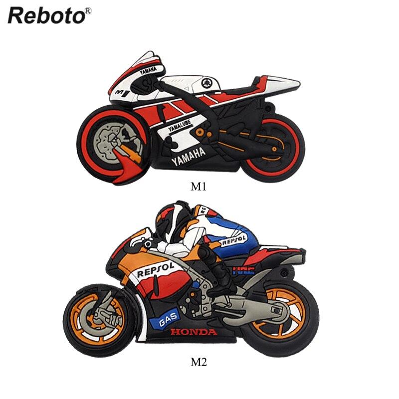 New Retobo Usb 2.0 Motorcycle Pen Drive 64GB Key Chain Gift Pen Drive 32GB 4GB 8GB 16GB U Disk Cartoon Usb Drive Pendrive Motobi usb флеш карта other usb pendrive 4 8 16 32 64 u pen drive