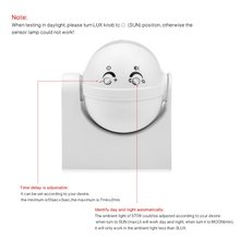 AIMENGTE High Sensitivity  AC110V, 220V 180 Degree Energy-Saving indoor PIR Infrared Motion Movement Sensor Detector Switch