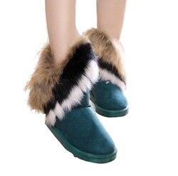 2016 autumn winter warm high long snow boots artificial fox rabbit fur leather tassel women s.jpg 250x250