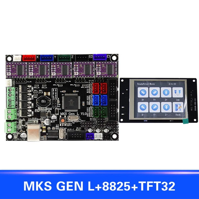 US $64 55 21% OFF|For MKS GEN L Compatible with TFT32 LCD Display Support  8825 Motor Driver 3D Print Kits XXM8-in 3D Printer Parts & Accessories from