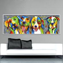Colorful Animal Oil Painting On Canvas Home Wall Decor