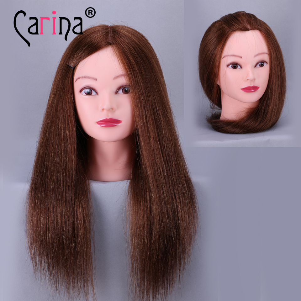 Top Selling 18inch 100% Real Human Hair Hairdressing Mannequin Dummy - Arts, Crafts and Sewing