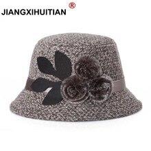 Элегантные вечерние женские Шляпы фетровые Для женщин шляпа леди Кепки зима теплая шапка Для женщин искусственного шерстяные зимние теплые Шапки Кепки s 57-58 см подарок для мамы
