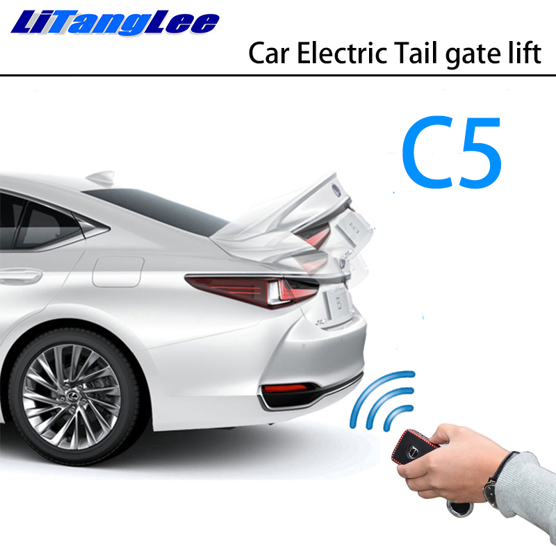 LiTangLee Car Electric Tail Gate Lift Trunk Rear Door Assist System For Citroen C5 RD TD 2007~2017 Original Key Remote Control