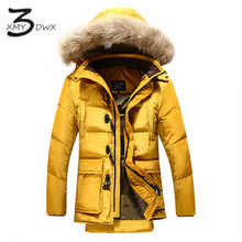 XMY3DWX Мужчины полноценно бренд Утолщение теплые длинные Хлопка мягкой одежда/Мужской Высокое качество с капюшоном Отдых куртка S-XXXL