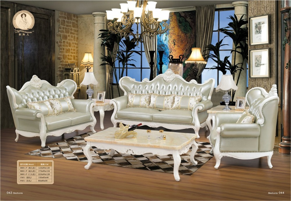 Armchair Sofas For Living Room Set Antique Muebles Bean Bag Chair Sofas Direct Factory Luxury European Style Wooden Carved Sofa
