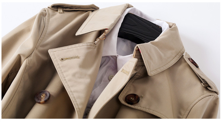 Qualité Nouvelle Moyen Classique Outwear Tranchée Automne Longueur Double Breasted2018 Kaki Designer Femmes Manteau Mince Britannique Haute Hiver Mode wvqtA0