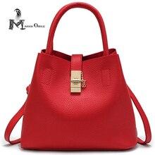 Frauen Eimer Rote Tasche Leder Eimer Umhängetasche Marke Eimer Tasche Rot für Frauen Mode Pu-leder Umhängetasche