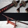 Высокое качество ручной работы ЯПОНСКИЙ самурайский меч катана 1060 углеродистая сталь Полный Тан может вырезать бамбуковое дерево Орхидея ...