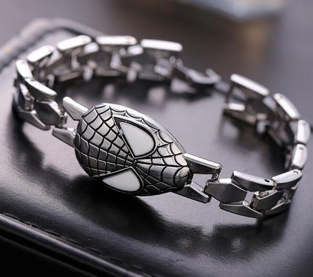 Spiderman Mask Alloy Bracelet