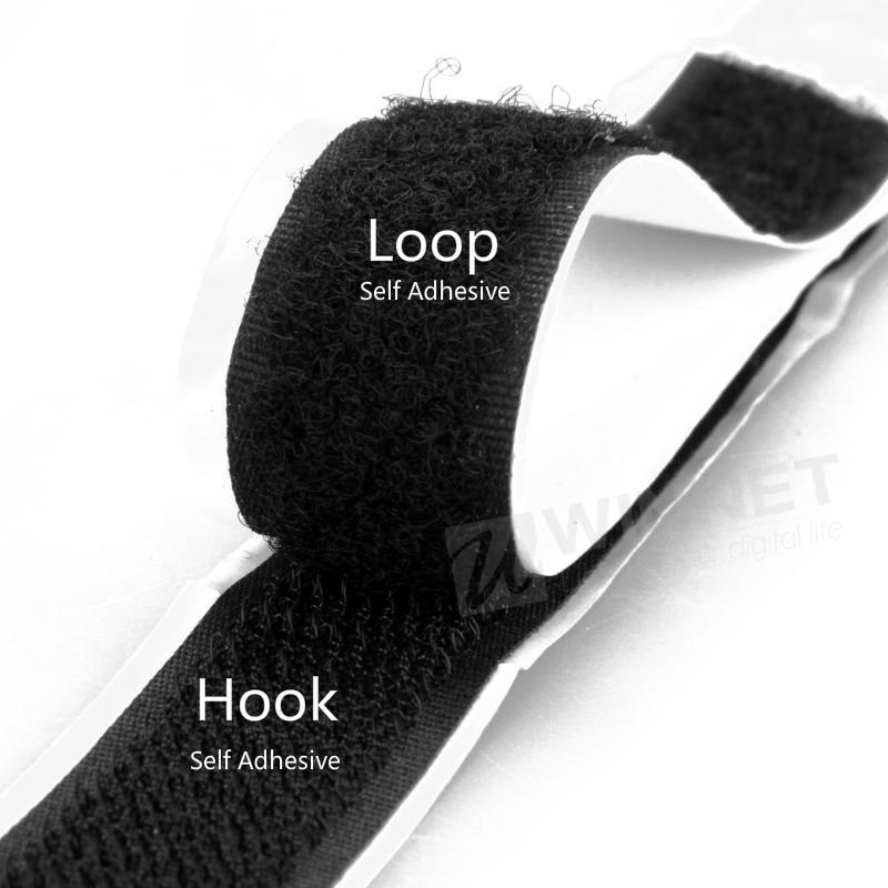 By per meter Sew on nylon fastener tape white hoop and loop tape in 2cm wide