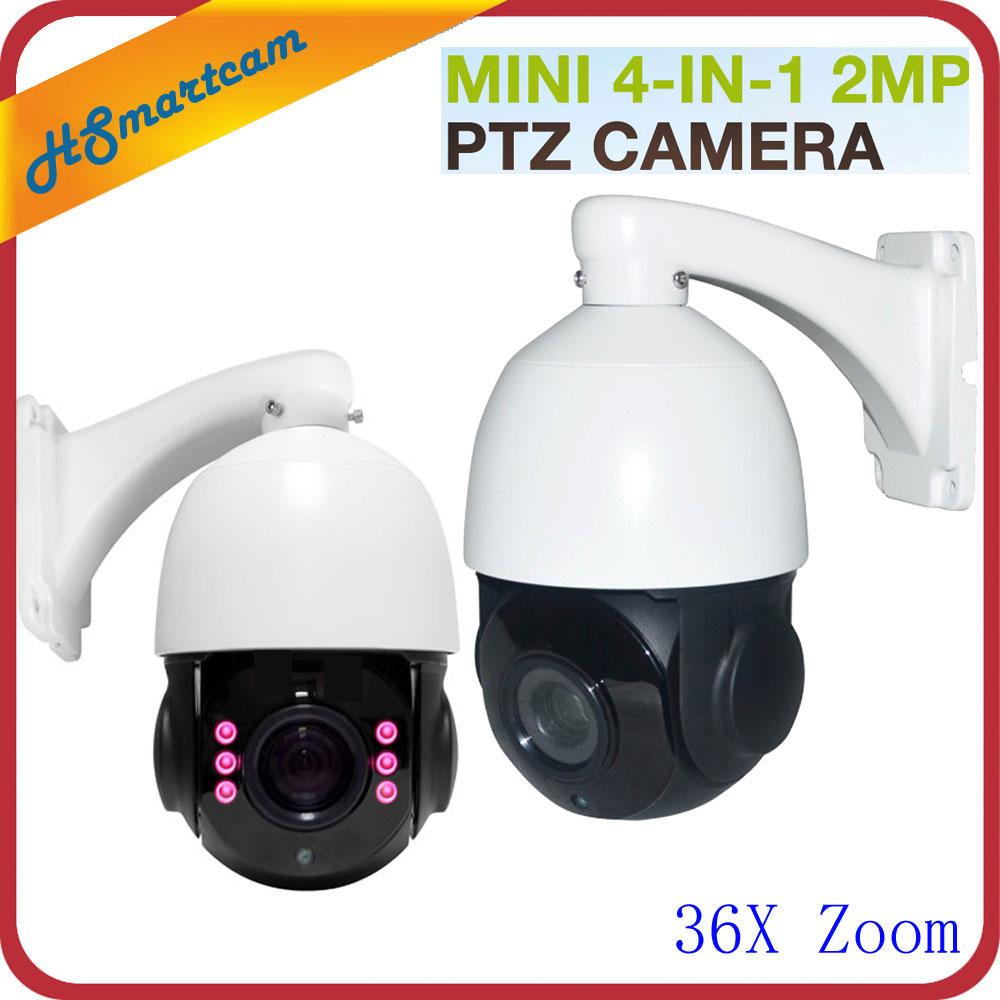 все цены на Outdoor CCTV Security 4 IN 1 CVI TVI AHD 1080P 2.0MP Mini Waterproof Dome PTZ Camera 36X ZOOM Auto Focus PanTilt Rotate Camera