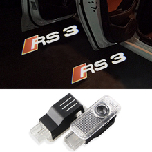 2X LED Car Door Logo Projector Welcome Light For Audi A1 A3 A4 B6 B8 A6 C5 80 A7 Q3 Q5 Q7 TT RS4 RS5 RS6 S4 S5 S6 S7 RS Sline