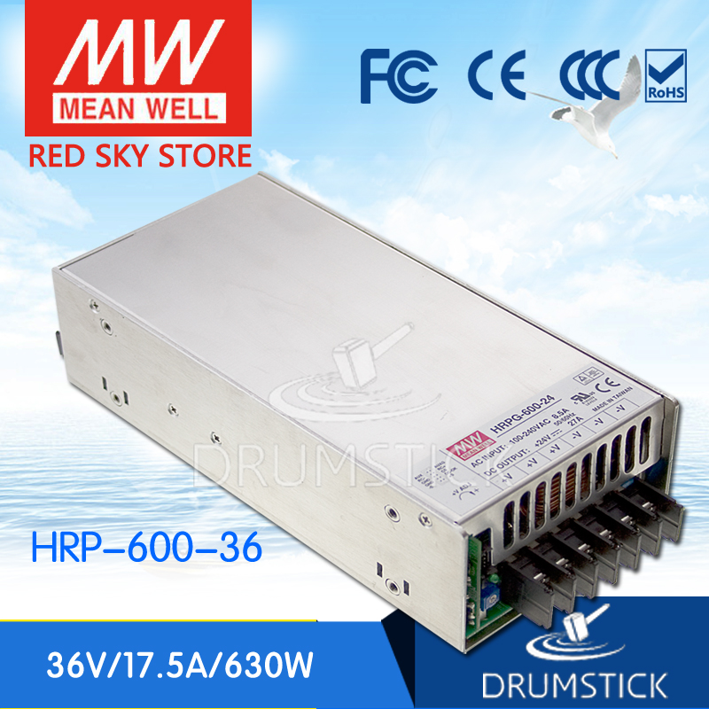 все цены на Advantages MEAN WELL HRP-600-36 36V 17.5A meanwell HRP-600 36V 630W Single Output with PFC Function  Power Supply онлайн