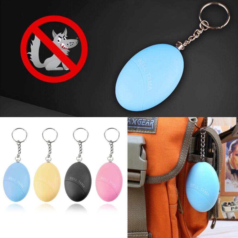 Self Defense Keychain Alarm Egg Shape Girl Women Anti-Attack Anti-Rape Security Protect Alert Personal Safety Scream Loud