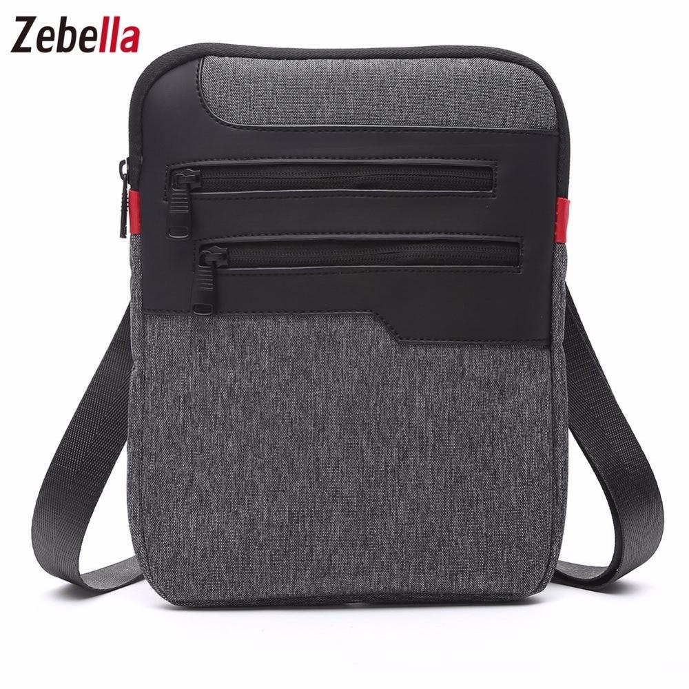 Zebella Casual Mens Messenger Shoulder Bag para iPad Satchel Nylon - Bolsos - foto 2