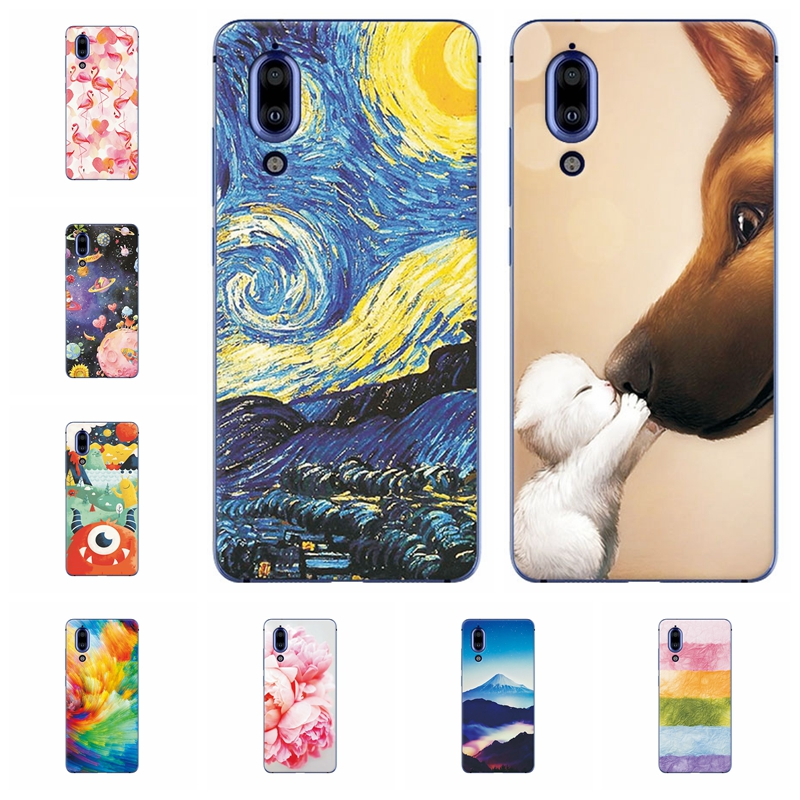 Back Cover Soft Fundas For SHARP AQUOS S2 Scenery Phone Case For Sharp Aquos S2 Capa Soft TPU Silicone Cover Cases Shell 5.5""