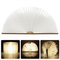 Folding LED Booklight Warm Cold White RGB Rechargeable Book Night Lights Decoration Lamp Creative Christmas Gifts for Children